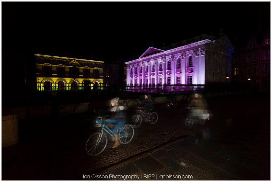 E-Luminate Cambridge 2016 Senate House and Cyclists